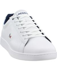 b54326829de075 Lyst - Lacoste Mens White   Light Grey Carnaby Evo 318 6 Trainers ...