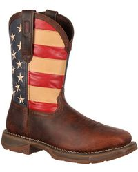 Durango - Rebel By Steel Toe Flag Western Flag Boot - Lyst