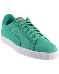 0ff915f572b4 Lyst - PUMA Suede Caribbean Reef Men s Sneakers in Green for Men