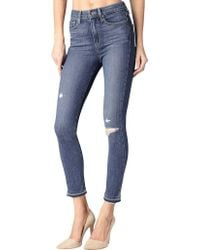 PAIGE - Margot High-rise Crop Skinny Jean In Lexi Destruct - Lyst