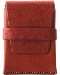 Bosca - Washed Envelope Card Case - Lyst