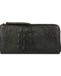 Scully - Embossed Croco Wallet 5008 - Lyst