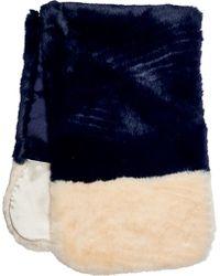 San Diego Hat Company - Faux Fur Color Block Scarf Bss3534 - Lyst
