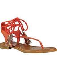 6c53d9e69055 Lyst - Nine West Izzelly Flat Thong Sandals in Pink
