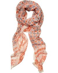 San Diego Hat Company - Woven Mosaic Scarf With Border Bss1730 - Lyst