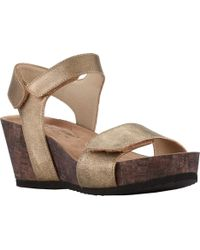 9f18a6a0c990 Lyst - Lucky Brand Lattela Quarter Strap Wedge Sandal - Save 11%
