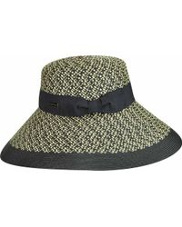 2ca5529951fab Betmar Aldridge Wide Brim Boater Hat in Black - Lyst