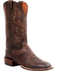 Lucchese Bootmaker - Judd W Toe Spur Ledge Horseman Boot - Lyst