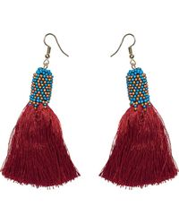 San Diego Hat Company - Fringe Earring With Beading Detail Bsj3502 - Lyst