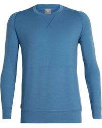 dc1ca39167 Icebreaker Shifter Long-sleeve Crewe Sweater in Blue for Men - Lyst
