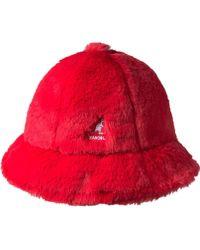 Kangol - Faux Fur Casual Bucket Hat - Lyst 99a9f6cd7bf