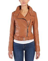 Mackage - Hania Leather Biker Jacket - Lyst