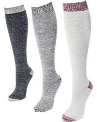 Muk Luks | Microfiber Knee High Sock Pack (3 Pair) | Lyst