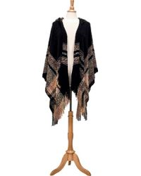 San Diego Hat Company - Open Front Knit Poncho With Hood Bsp3545 - Lyst
