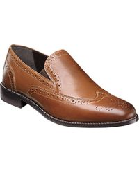 Nunn Bush - Norris Wing Tip Double Gore Slip-on - Lyst