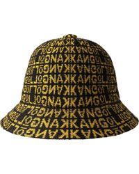 57b01401171ac Kangol Faux Fur Casual Bucket Hat in Black - Lyst