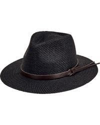 bdeb79fc301 San Diego Hat Company - Faux Leather Band Cut And Sew Paper Fedora Cth3561  - Lyst
