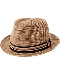 San Diego Hat Company - Paper Packable Fedora Pbf7334 - Lyst