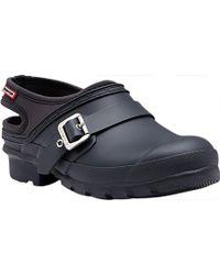 154f25d1c9b Lyst - HUNTER Original Double Buckle High Flatform Sandal in Black