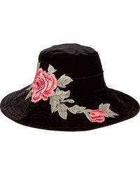 San Diego Hat Company - Velvet Floppy Hat With Embroidery Patch Cth8100 - Lyst