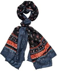 San Diego Hat Company - Woven Floral Print Scarf Bss1738 - Lyst