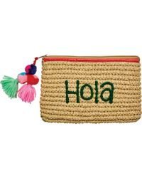 San Diego Hat Company - Paper Clutch With Embroidery Bsb1721 - Lyst