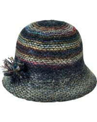 San Diego Hat Company - Marled Yarn Cloche With Yarn Pom Knh3612 - Lyst