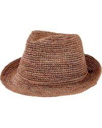San Diego Hat Company - Crochet Raffia Fedora Rhf6120 - Lyst