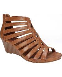 White Mountain Footwear - Victoria Gladiator Wedge Sandal - Lyst