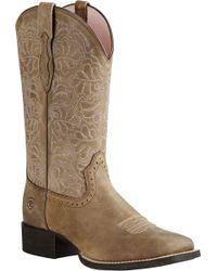 Ariat - Round Up Remuda Cowboy Boot - Lyst