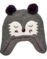 b003cc3293b San Diego Hat Company - Knit Raccoon Beanie With Ear Flaps Knh3564 - Lyst