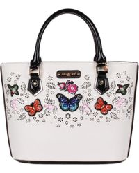 Nicole Lee - Visola Butterfly Embroidered Shopper Bag - Lyst