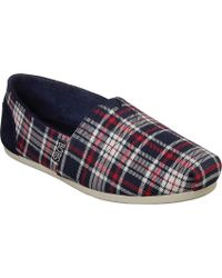 b77074d11cb Skechers - Bobs Plush Plaid Dash Alpargata - Lyst