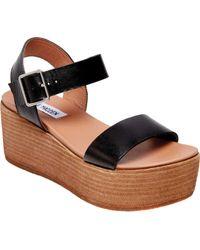 6d5249297dfa Lyst - Steve Madden Sevvile Women Open Toe Leather Platform Sandal ...