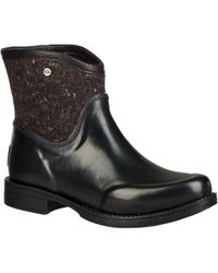 08bc381b6e3 UGG Paxton Short Wellies in Black - Lyst