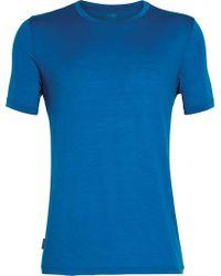 9f55881a Lyst - Icebreaker Tech Lite Short Sleeve Crewe Solid Tee in Blue for Men