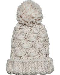 San Diego Hat Company - Crochet Knit Beanie With Cuff/pom Pom Knh3474 - Lyst