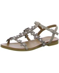 7d8281838392 Inuovo Beaded Starfish Sandals in Metallic - Lyst