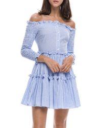 English Factory | Smocked Dress Blue | Lyst