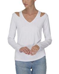 LNA - Vera Long Sleeve Top White - Lyst