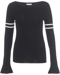 FRAME - Rugby Bell Sweater Noir - Lyst
