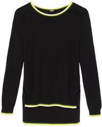 Adam Lippes - Black Crewneck Sweater - Lyst