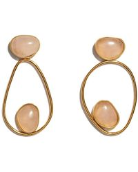 Lizzie Fortunato - Pink Gold Echo Earrings - Lyst