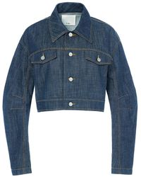 Tibi - Raw Denim Cropped Jacket - Lyst