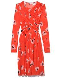 Ganni - Big Apple Red Tilden Mesh Mini Dress - Lyst