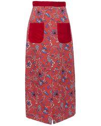 Rebecca de Ravenel - Pocket Midi Skirt - Lyst