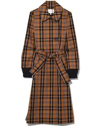 Dorothee Schumacher - Playful Check Trench Coat In Golden Dust - Lyst