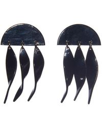 Lele Sadoughi - Jet Dangling Ivy Earrings - Lyst