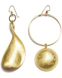Mounser Jewelry - Gold Lunar Asymmetric Earrings - Lyst