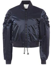 Tibi - Nylon Ruched Cropped Jacket - Lyst